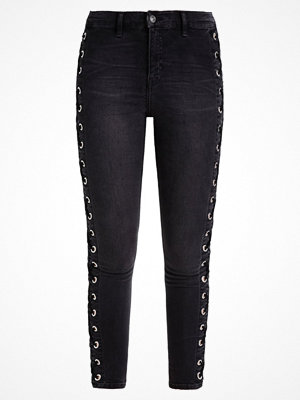 Topshop SUPER LACE UP SIDE JAMIE Jeans slim fit black