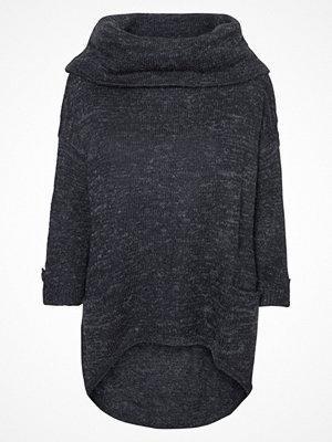 Vero Moda VMFRANCIE COPENHAGEN COWLNECK Stickad tröja darkblue