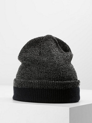 Mössor - Quiksilver PERFORMED COLOR BLOCK Mössa dark charcoal heather