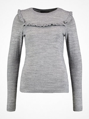 Dorothy Perkins FRILL Stickad tröja grey