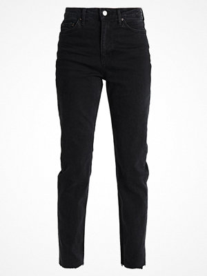 Topshop Tall Jeans straight leg washed black