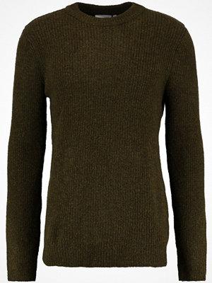 Weekday MINO Stickad tröja khaki green melange