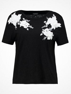 Topshop MONO 3D APPLIQUE  Tshirt med tryck black