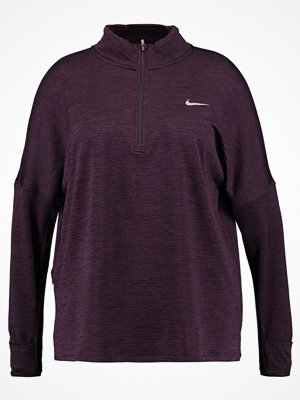 Nike Performance THERMA SPHERE ELEMENT Funktionströja port wine heather/port wine/silver