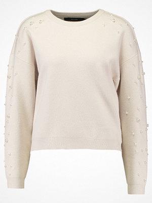 Vero Moda VMDANVILLE ONECK  Stickad tröja eggnog/w. white pearls