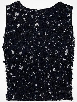 Linnen - Lace & Beads Tall HAZEL  Linne midnight blue