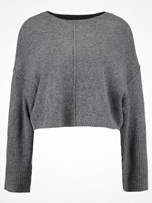 Topshop WIDE SLEEVE CROP Stickad tröja charcoal