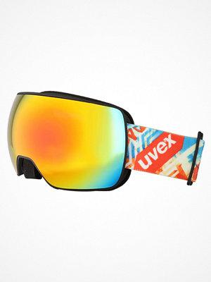Skidglasögon - Uvex UVEX COMPACT FM  Skidglasögon black/rainbow