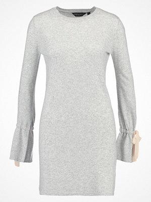Dorothy Perkins TIE DETAIL Stickad klänning grey marl