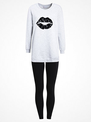 Even&Odd SET  Pyjamas light grey/black