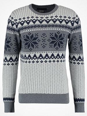 Tröjor & cardigans - Jack & Jones JPRSNOW CREW NECK Stickad tröja grey melange