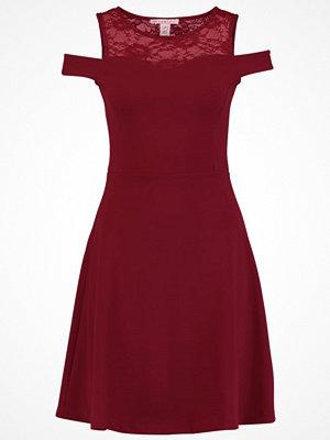 Anna Field Jerseyklänning bordeaux