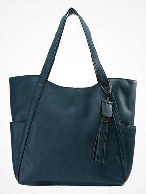 Anna Field omönstrad shopper Shoppingväska dark turquoise