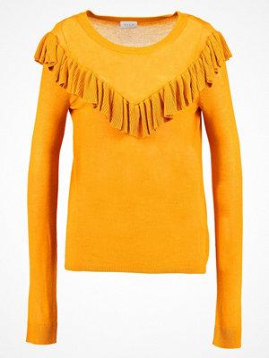 Vila VITULIPPA Stickad tröja nugget gold