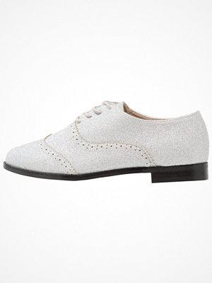Ichi CLAIRE GLITTER Snörskor silver grey