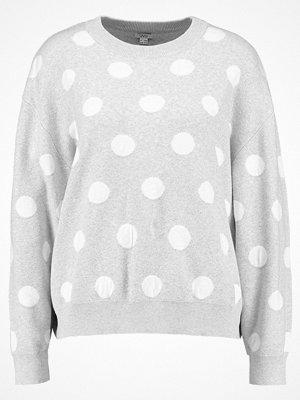 OVS Stickad tröja grigio/bianco