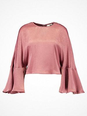 Lost Ink Petite FLARED SLEEVE CROP Blus pink