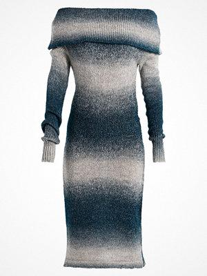 Anna Field Stickad klänning grey/petrol