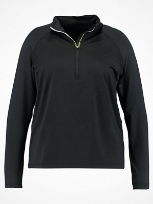 Nike Performance PRO HYPERWARM HALF ZIP Sweatshirt black/volt