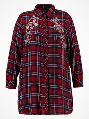 New Look Curves EMBELLISHED CHECK Skjorta red pattern