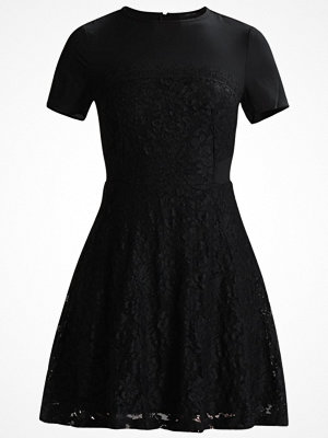 Lost Ink LACE SKIRT CHIFFON TOP FIT AND FLARE Cocktailklänning black