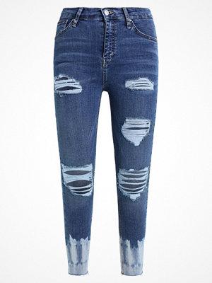 Topshop TIE DYE JAMIE RIP Jeans Skinny Fit blue