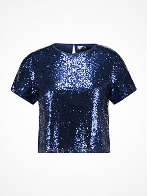 Missguided Petite SEQUIN Tshirt med tryck blue
