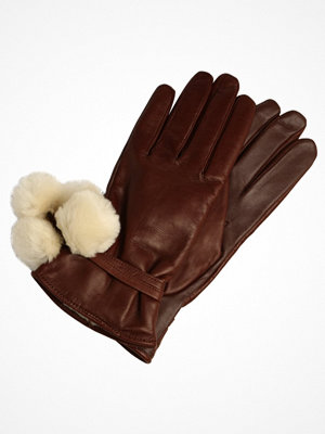 Handskar & vantar - UGG BRITA SMART GLOVE WITH POMS Fingervantar dark brown