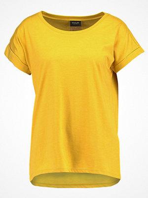Vila VIDREAMERS PURE Tshirt bas nugget gold/melange