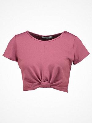 Glamorous Tshirt med tryck dark pink
