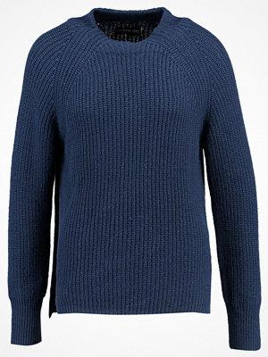 Even&Odd Stickad tröja dark blue