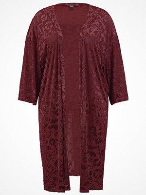 New Look Curves BURNOUT Tunn jacka dark burgundy