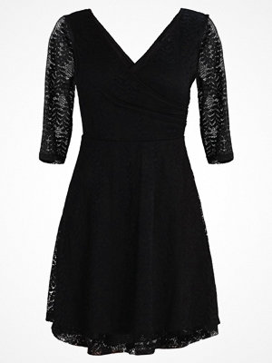 New Look 3/4 SLEEVE WRAP DRESS Cocktailklänning black