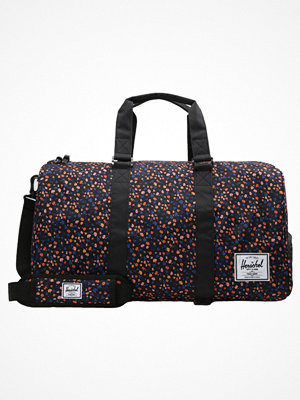 Herschel NOVEL Weekendbag black mini floral mönstrad
