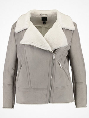 New Look Curves VALLEY SHEARLING Jacka i konstläder grey