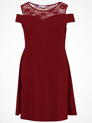 Anna Field Curvy Jerseyklänning bordeaux