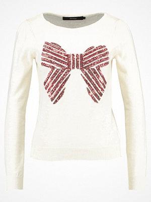 Vero Moda VMDANCER BOATNECK Stickad tröja off white