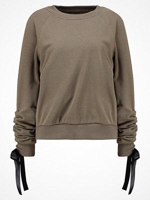 Even&Odd RUCHED  Sweatshirt khaki