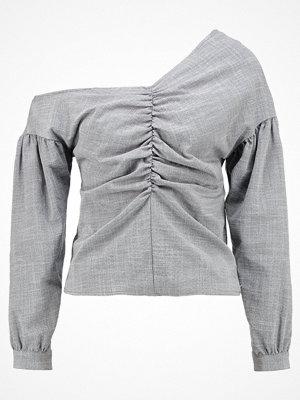 Topshop OFF SHOULDER TAILORED  Blus grey