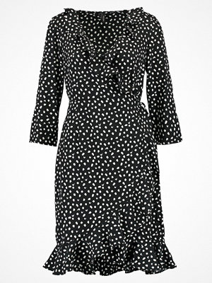 Vero Moda VMHENNA DOT 3/4 WRAP DRESS  Sommarklänning black/off white