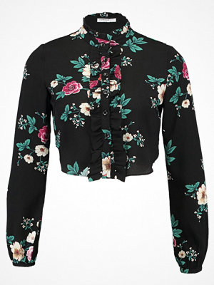 Glamorous Petite FLORAL BLOUSE Skjorta black/magenta