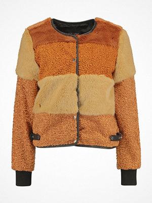 New Look PATCHWORK CROPPED JACKET Vinterjacka brown pattern