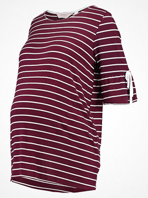 DP Maternity STRIPE SCOOP NECK TIE FLUTE SLEEVE  Tshirt med tryck red
