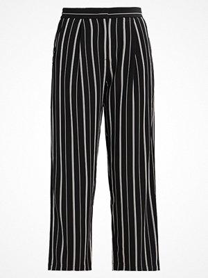 Selected Femme SFDUSINA PANT  Tygbyxor black/white randiga