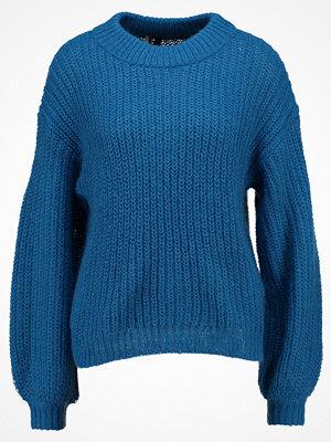Topshop SLEEVE Stickad tröja blue