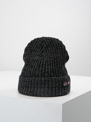Mössor - Superdry STOCKHOLM BEANIE Mössa black/dark charcoal