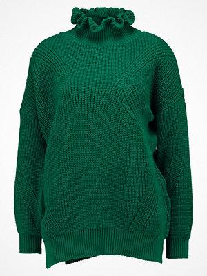 Topshop FRILL JUMPER Stickad tröja green