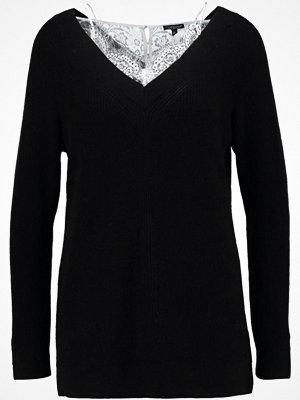 Topshop INSERT LONGLINE Stickad tröja black