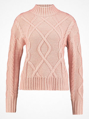 GAP CROP MOCK CABLE  Stickad tröja chalk pink