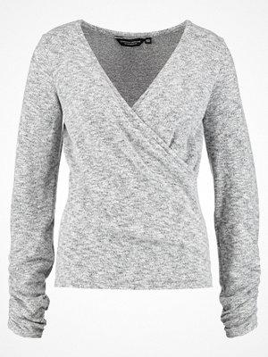 Dorothy Perkins RUCHED WRAP TOP Stickad tröja grey